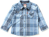 Levi's Baby Boys 12-24 Months Barstow Plaid Western Shirt
