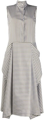Mulberry striped flared dress