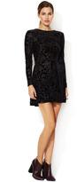 Dolce Vita Azalia Velvet Semi-Sheer Dress