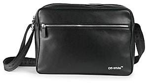 Off-White Men's Leather Messenger Bag