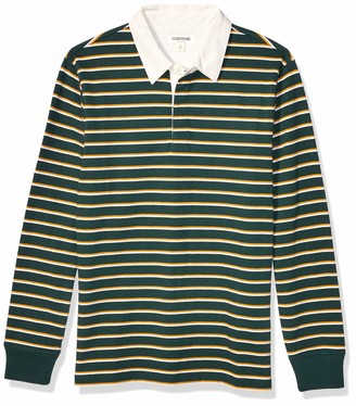 Goodthreads Amazon Brand Men's Long-Sleeve Striped Rugby