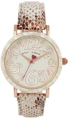 Betsey Johnson Sleek Slithering Watch (Rose Gold) Watches