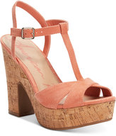 American Rag Jamie T-Strap Platform Dress Sandals, Only at Macy's Women's Shoes