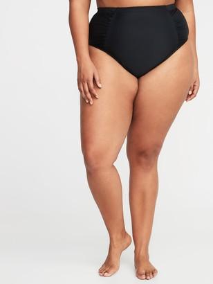 Old Navy High-Waisted Secret-Slim Plus-Size Swim Bottoms
