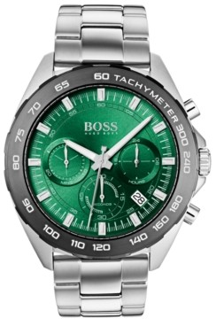 BOSS Men's Chronograph Intensity Stainless Steel Bracelet Watch 44mm