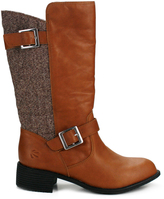 Burnetie Brown Leisure Leather Boot