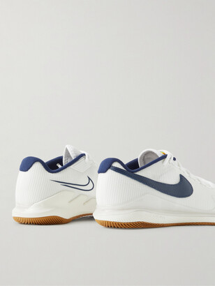 Nike Tennis Nikecourt Air Zoom Vapor Pro Rubber-Trimmed Mesh Tennis Sneakers
