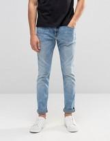 Pull&bear Skinny Jeans In Light Blue