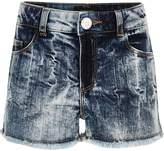 River Island Girls Blue acid wash denim boyfriend shorts