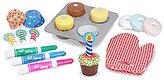 Melissa & Doug Wooden Bake & Decorate Cupcake Set