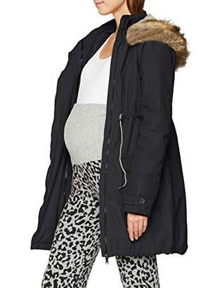 Noppies Women's Jacket Malin 2-Way Maternity (Dark Grey C244), 8 (Size: XS)