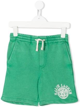Ralph Lauren Kids Logo-Print Drawstring Shorts