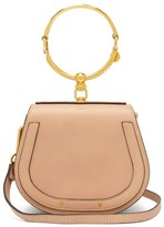 Chloé Nile Small Leather And Suede Cross-body Bag - Womens - Light Pink