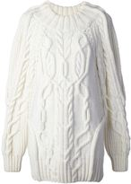 Vera Wang cable knit sweater
