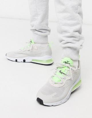 Nike 270 React Grey And Neon Sneakers