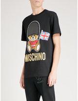 Moschino London Bear cotton-jersey T-shirt