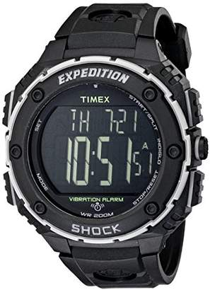 Timex Men's T49950 Expedition Shock XL Vibrating Alarm Resin Strap Watch