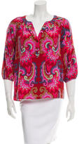 Tibi Paisley Button-Up Top