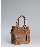 Jimmy Choo cognac leather and snakeskin 'Babeth' tote