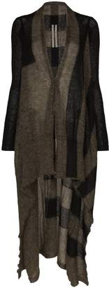 Rick Owens long asymmetric cardigan