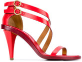 Chloé Red Niko Heeled Sandals - women - Leather - 40