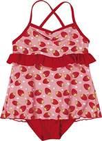 Playshoes Girl's UV Sun Protection Ruffle Skirt Bathing Suit Erdbeeren Swimsuit,3 Years (Manufacturer Size:98/104 (3-4 Years))