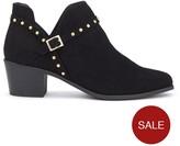 Miss Selfridge Black Stud Cut Out Boot