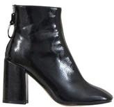 Steve Madden Women's Black Leather Ankle Boots.