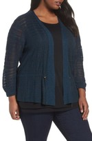 Nic+Zoe Plus Size Women's Cinched Knit Cardigan