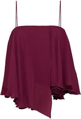 Nicholas Asymmetric Layered Silk-georgette Camisole