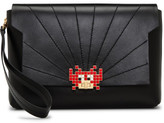 Anya Hindmarch BATHURST CLUTCH SMA SPACE INVADERS LOCK NAPPA