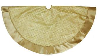 """Northlight 48"""" Gold Glittered Star Christmas Tree Skirt with Velveteen Border"""