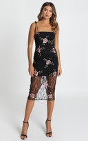 Showpo Can We just Talk Dress In black floral lace - 6 (XS) Dresses
