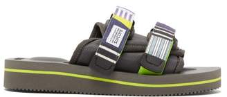 Suicoke Moto-veu2 Technical-twill Slides - Womens - Purple Multi