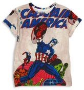 Eleven Paris Little Boy's & Boy's Captain America Allover Printed Tee