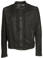Dacute Zip Cuffs Leather Jacket