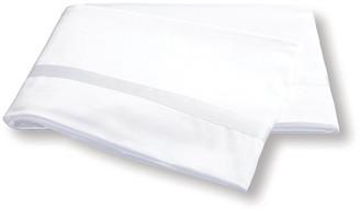 Matouk Nocturne Flat Sheet - White Full/queen
