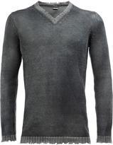 Avant Toi distressed V-neck jumper - men - Cotton/Linen/Flax/Cashmere - XXL