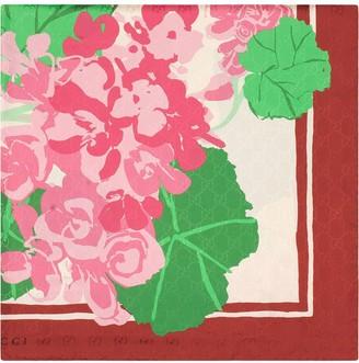 Gucci x Ken Scott floral-print silk scarf