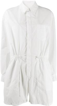 Maison Margiela drawstring-waist shirt-style playsuit