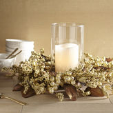 Pier 1 Imports White Faux Berry & Leaf Hurricane Candle Holder