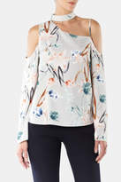 Cooper & Ella Asymmetrical Cut-Out Top
