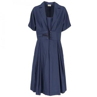 Philosophy di Alberta Ferretti Blue Cotton Dress for Women Vintage