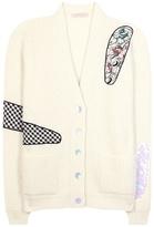 Christopher Kane Embellished Mohair-blend Cardigan