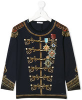 Dolce & Gabbana military printed top