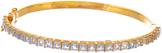 Forever Creations Usa Inc. Forever Creations 18K Gold Over Silver 3.00 Ct. Tw. Blue Topaz Bangle