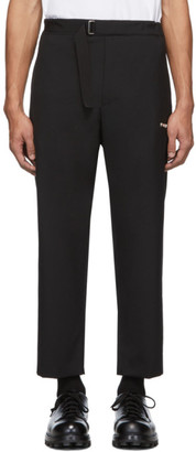 Oamc Black Cotton Regs Trousers