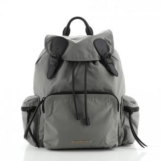 Burberry The Rucksack Black Leather Backpacks