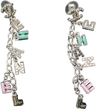 Chanel Purple Metal Earrings