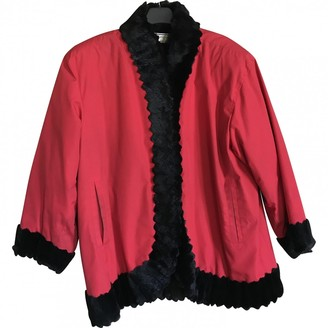 Saint Laurent Red Fur Coats